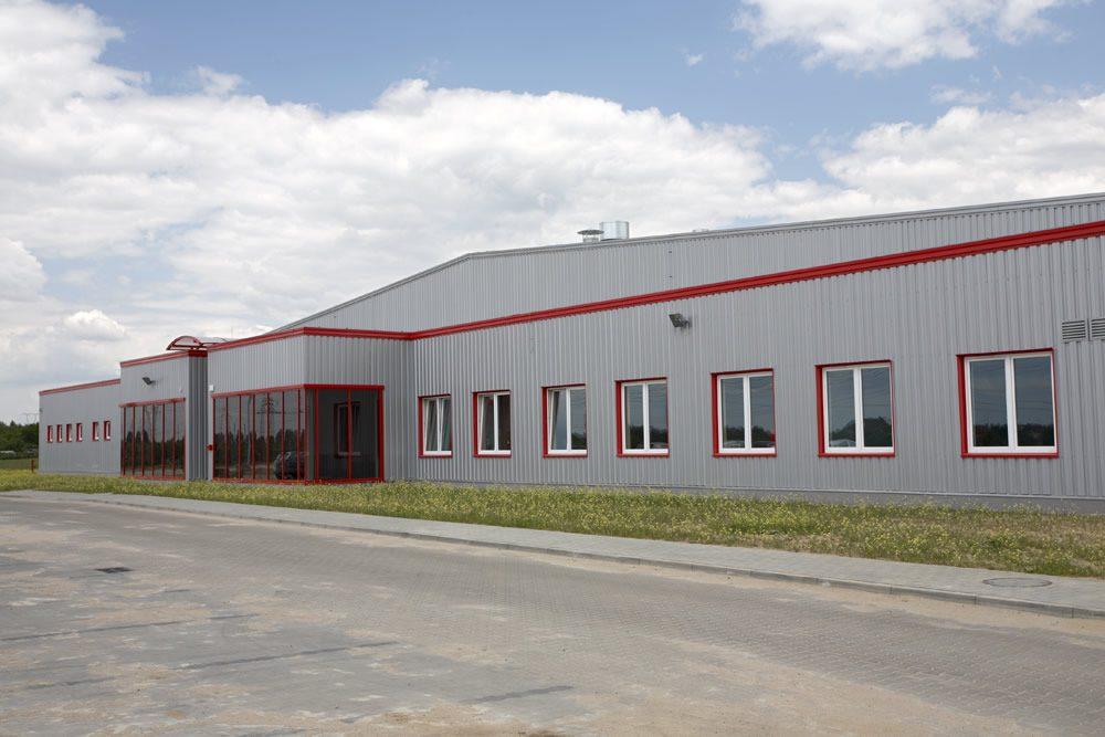 elewacja przednia - hala produkcyjna, dla Filtry Haft, Gorzów Wielkopolski, woj. lubuskie