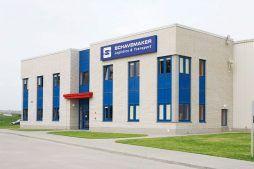 elewacja frontowa - centrum logistyczne z budynkiem biurowym, dla Schavemaker, Kąty Wrocławskie