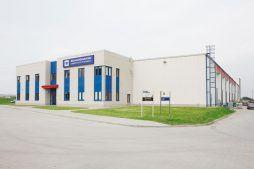 widok ogólny - centrum logistyczne z budynkiem biurowym, dla Schavemaker, Kąty Wrocławskie