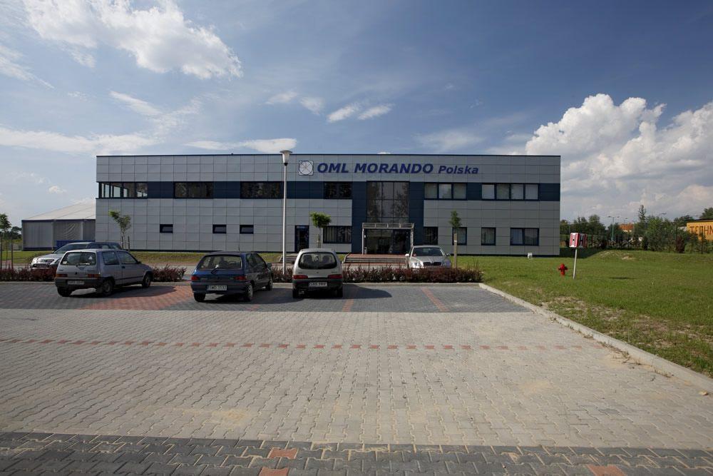 widok z przodu - rozbudowa hali produkcyjnej, dla OML Morando, Czerwionka-Leszczyny