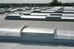 świetlik dachowy 1 - hala produkcyjno-magazynowa z budynkiem biurowym, dla Promens, Międzyrzecz, woj. lubuskie