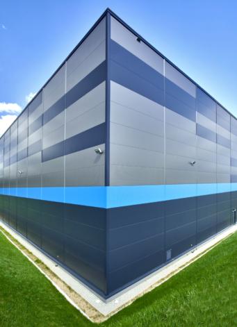 kolorystyka elewacji - centrum logistyczna, dla Indeka Logistic City, branża spedycyjna, woj. pomorskie