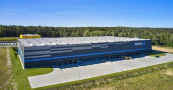 hala Indeka Logistic City, ujęcie z drona - centrum logistyczne, Płaszewko, woj. pomorskie