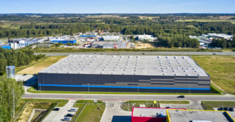 centrum logistyczne, widok z lotu ptaka - Indeka Logistic City, generalny wykonawca CoBouw Polska, inwestycja w woj. pomorskie