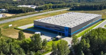 hala Indeka Logistic City, widok z góry - hala logistyczna, Płaszewko, Słupska Specjalna Strefa Ekonomiczna