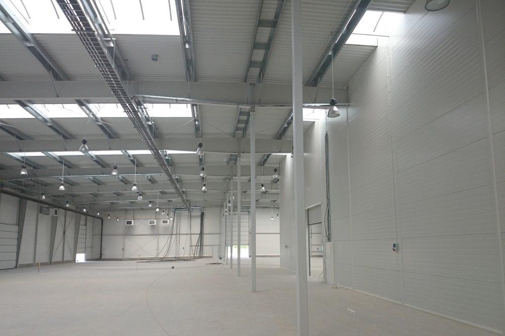 gotowe wnętrze - hala produkcyjno-magazynowa z budynkiem biurowym, dla Lidermax, Łukowo, woj. mazowieckie