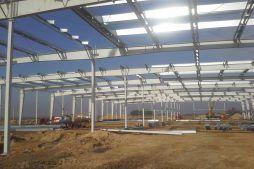 konstrukcja stalowa - hala produkcyjno-magazynowa z budynkiem biurowym, dla Lidermax, Łukowo, woj. mazowieckie