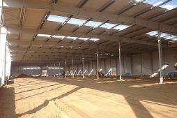 konstrukcja stalowa obiektu - hala produkcyjno-magazynowa z budynkiem biurowym, dla Lidermax, Łukowo, woj. mazowieckie