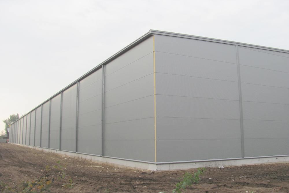 ściana boczna 2 - hala produkcyjna z budynkiem biurowym, dla Meblomaster, Węgrów, woj. mazowieckie