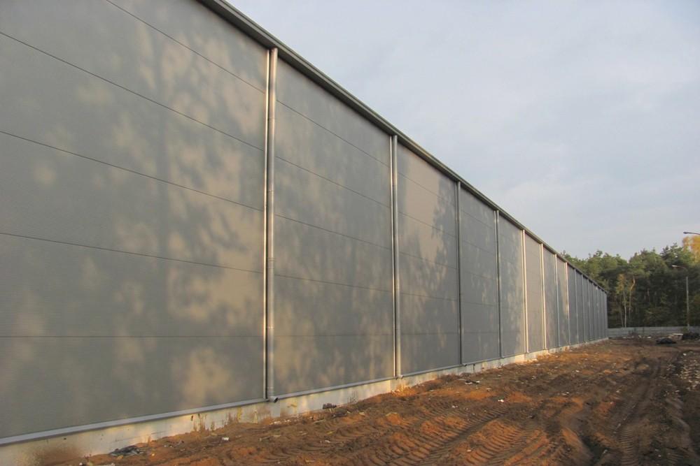 ściana boczna 1 - hala produkcyjna z budynkiem biurowym, dla Meblomaster, Węgrów, woj. mazowieckie