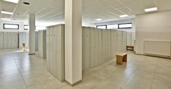 szatnia dla pracowników w części socjlanej - zakład produkcyjno-magazynowy z częścią socjalno-biurową, dla Mardom Pro, woj. mazowieckie