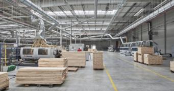 urządzenia produkcyjne w hali - hala o powierzchni 20.000 m2, dla Grupa Mardom, inwestycja zrealizowana przez CoBouw Polska