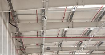elementy instalacji tryskaczowej - hala produkcyjno-magazynowa, dla Mardom Pro, branża meblarska i wnętrzarska, Lipniki Stare, woj. mazowieckie