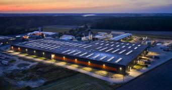 widok na inwestycję, ujęcie z drona - hala o powierzchni 20.000 m2, dla Mardom Pro, Lipniki Stare, woj. mazowieckie