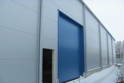 brama wjazdowa - hala produkcyjna z budynkiem biurowym, dla Meblomaster, Węgrów, woj. mazowieckie