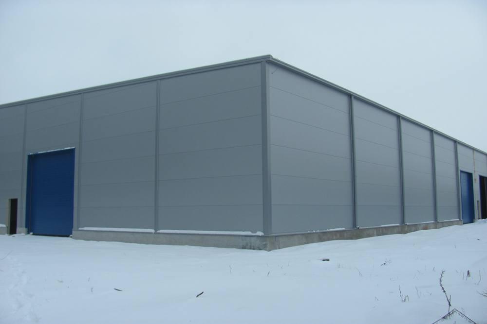 elewacje - hala produkcyjna z budynkiem biurowym, dla Meblomaster, Węgrów, woj. mazowieckie
