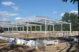 konstrukcja stalowa - hala produkcyjna z budynkiem biurowym, dla Meblomaster, Węgrów, woj. mazowieckie