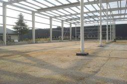 konstrucja stalowa od wewnątrz - hala produkcyjna z częścią biurową, dla Nome, Mników, woj. małopolskie