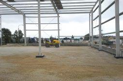 konstrukcja stalowa widziana od wewnątrz 1 - hala produkcyjna z częścią biurową, dla Nome, Mników, woj. małopolskie