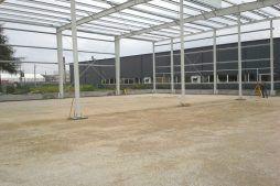 konstrukcja stalowa widziana od wewnątrz 3 - hala produkcyjna z częścią biurową, dla Nome, Mników, woj. małopolskie