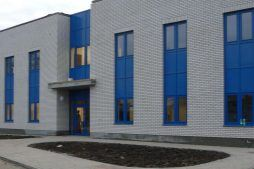 wejście do budynku 1 - centrum logistyczne z budynkiem biurowym, dla Schavemaker, Kąty Wrocławskie