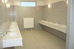 pomieszczenie sanitarne 1 - hala produkcyjna z częścią biurową, dla Oras, Olesno, woj. opolskie