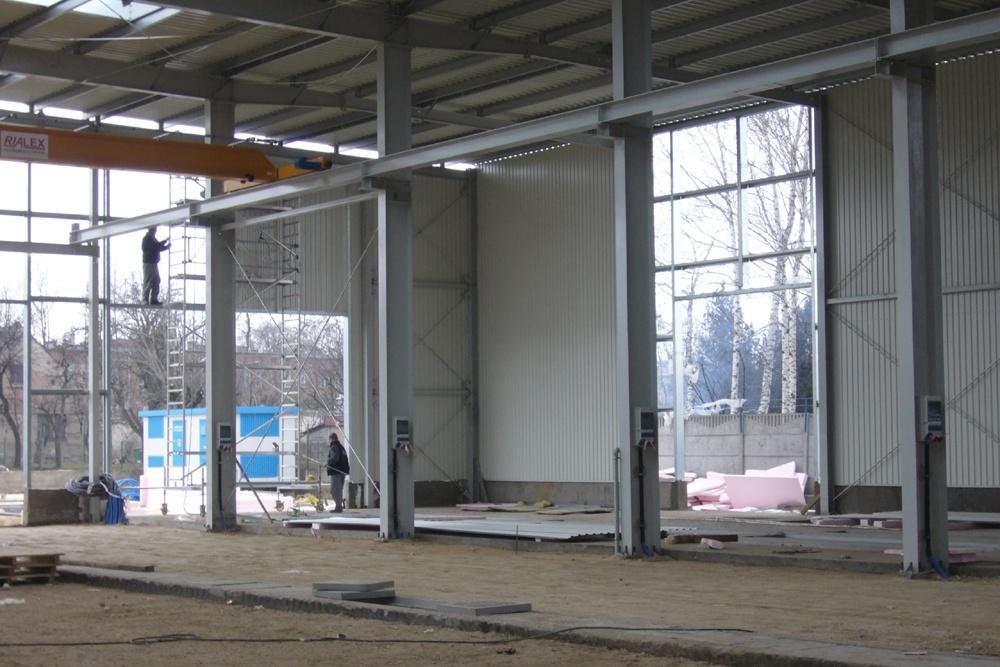 prace budowlane na hali - hala produkcyjna, dla Feber, Sieradz, woj. łódzkie