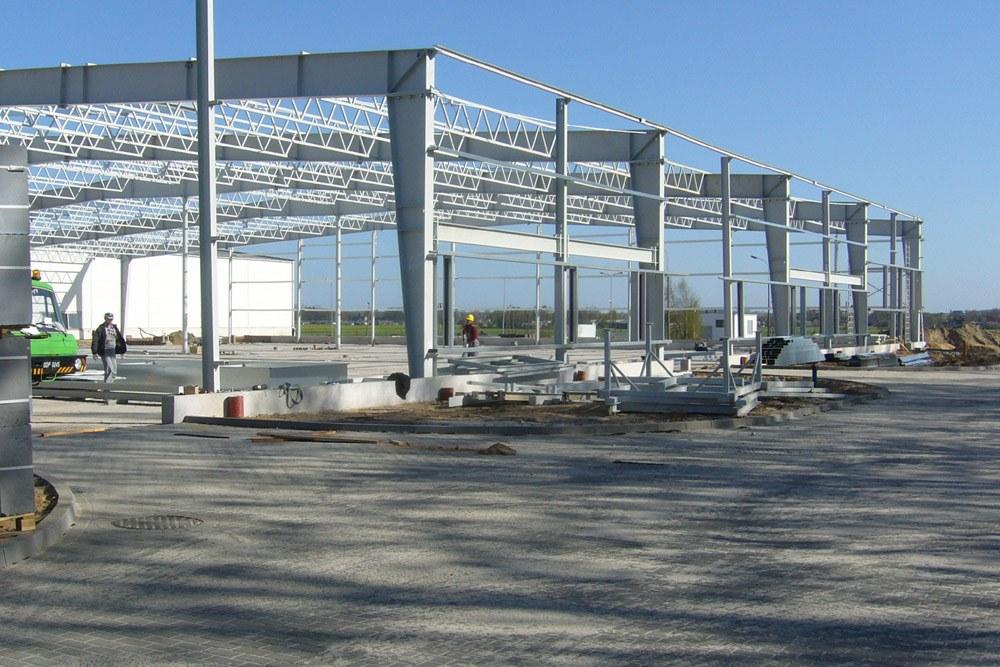 konstrukcja stalowa 1 - hala produkcyjna z częścią biurową, dla Oras, Olesno, woj. opolskie