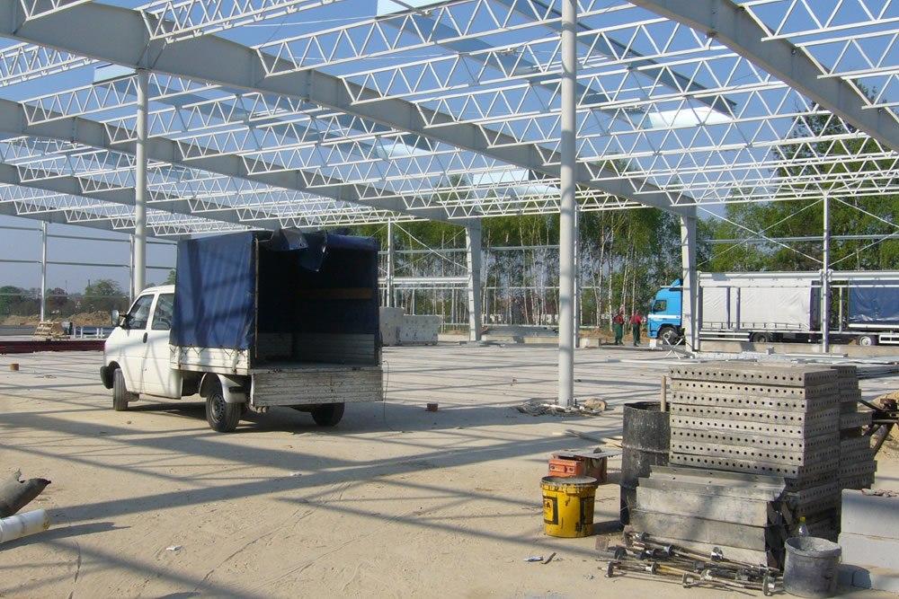 konstrukcja stalowa - hala produkcyjna z częścią biurową, dla Oras, Olesno, woj. opolskie