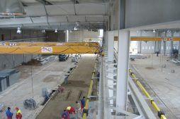 prace wykończeniowe na hali 1 - hala produkcyjna, dla Feber, Sieradz, woj. łódzkie