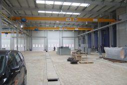 wnętrze hali 1 - hala produkcyjna, dla Feber, Sieradz, woj. łódzkie