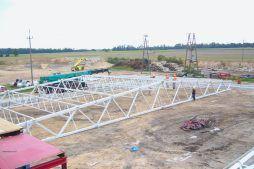 konstrukcja stalowa dachu - zakład utylizacji odpadów, dla Wexpool, Dąbrówka Wielkopolska, woj. lubuskie