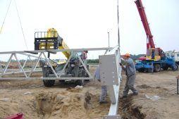 montaż elementów konstrukcji stalowej - zakład utylizacji odpadów, dla Wexpool, Dąbrówka Wielkopolska