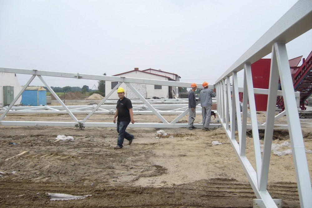 montaż elementów konstrukcji stalowej 1 - zakład utylizacji odpadów, dla Wexpool, Dąbrówka Wielkopolska