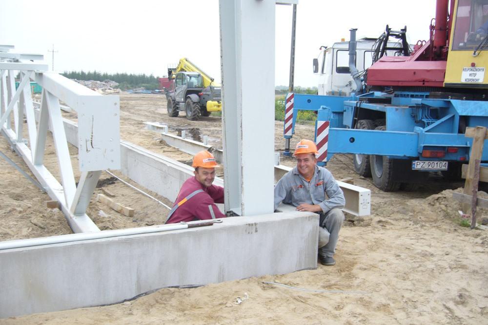 pracownicy budowlani - zakład utylizacji odpadów, dla Wexpool, Dąbrówka Wielkopolska, woj. lubuskie