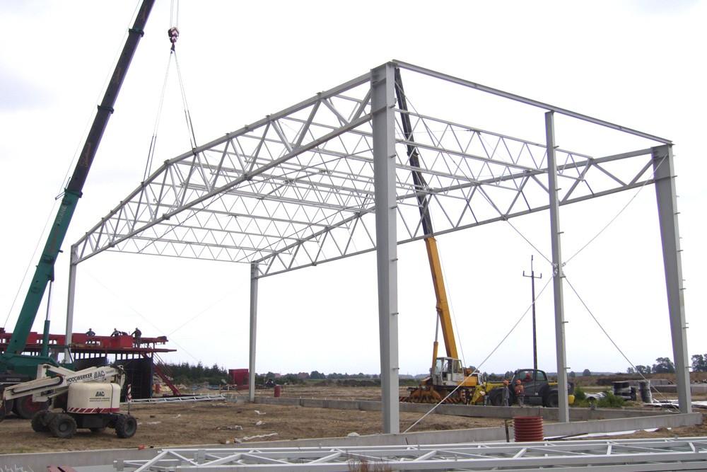 wznoszenie konstrukcji stalowej - zakład utylizacji odpadów, dla Wexpool, Dąbrówka Wielkopolska, woj. lubuskie