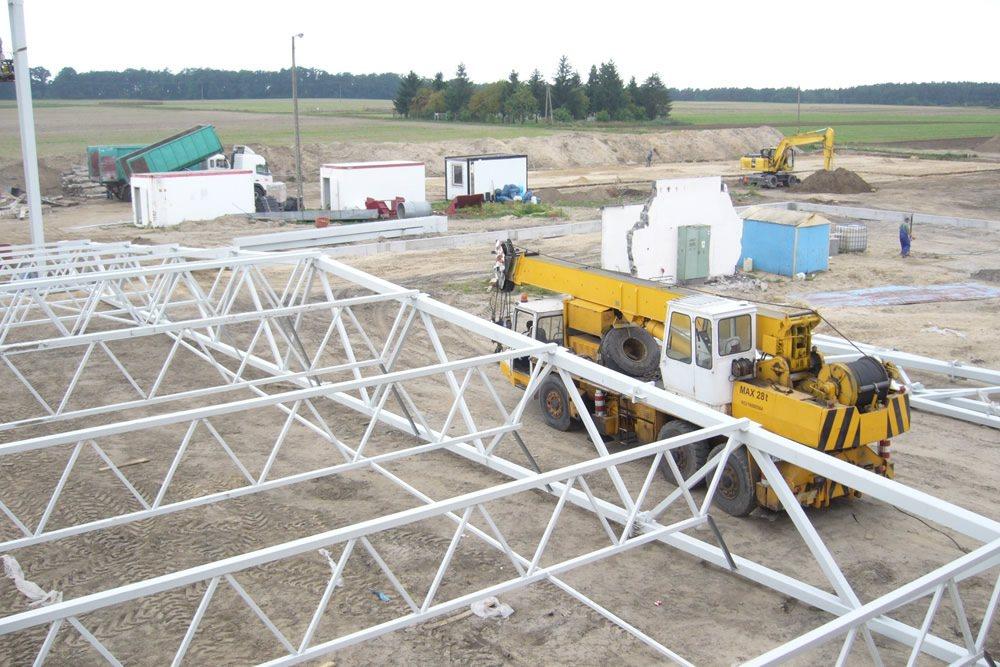 konstrukcja kratownicowa - zakład utylizacji odpadów, dla Wexpool, Dąbrówka Wielkopolska, woj. lubuskie