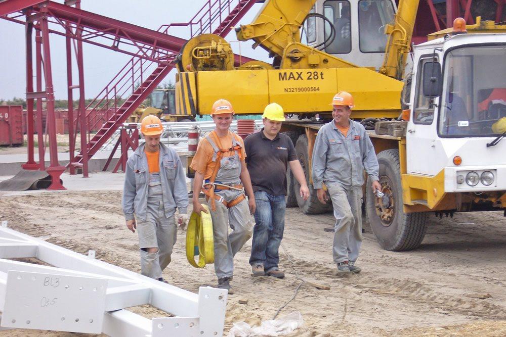 pracownicy budowlani 1 - zakład utylizacji odpadów, dla Wexpool, Dąbrówka Wielkopolska, woj. lubuskie