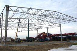 wznoszenie konstrukcji stalowej 1 - zakład utylizacji odpadów, dla Wexpool, Dąbrówka Wielkopolska