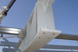 elementy konstrukcji stalowej 2 - hala magazynowa, dla Cornette, Sieradz, woj. łódzkie