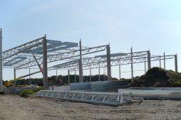 konstrukcja stalowa - hala produkcyjna z budynkiem biurowym, dla NWM, Gubin, woj. lubuskie