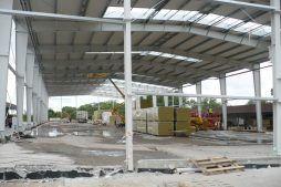 obiekt w trakcie budowy - hala produkcyjno-magazynowa z częścią biurową, dla 2x3, Krzęcin, woj. zachodniopomorskie