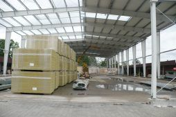 zadaszenie konstrukcji - hala produkcyjno-magazynowa z częścią biurową, dla 2x3, Krzęcin, woj. zachodniopomorskie