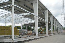 widok konstrukcji blachownicowej - hala produkcyjno-magazynowa z częścią biurową, dla 2x3, Krzęcin, woj. zachodniopomorskie
