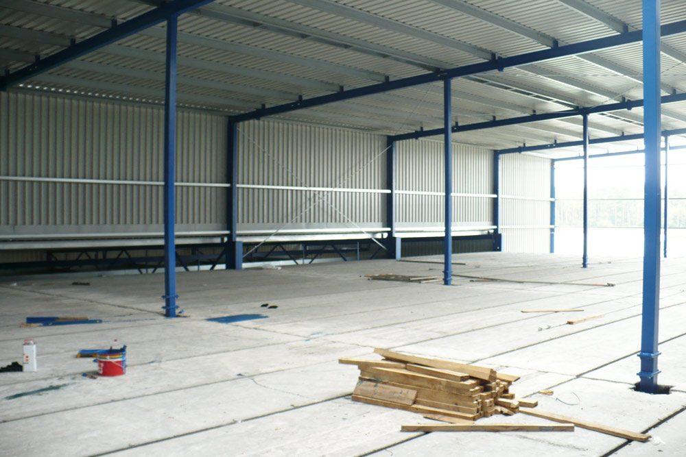układanie stropu z plyt żelbetowych - mroźnia, dla Norpol, Łozienica, woj. zachodniopomorskie