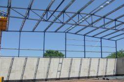 widok konstrukcji stalowej - hala przemysłowa, dla Van Gansewinkel, Ruda Śląska, woj. śląskie