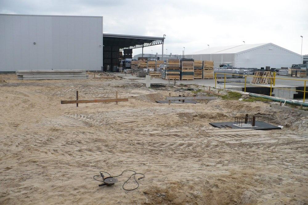 teren budowy - hala produkcyjna z częścią socjalną, dla HG Poland, Łozienica, woj. zachodniopomorskie