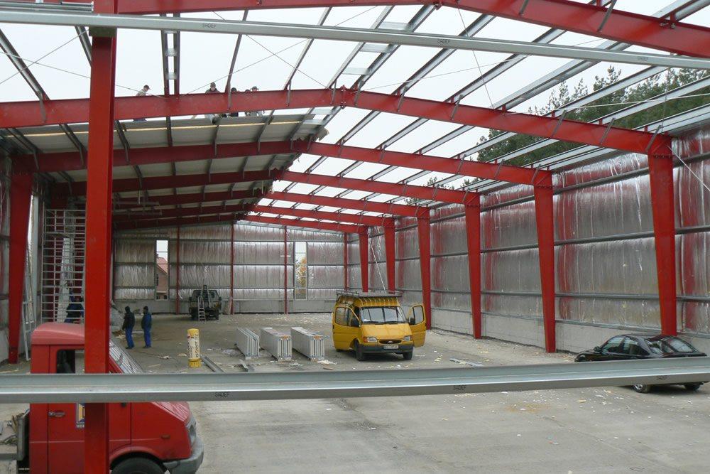 konstrukcja blachownicowa - hala produkcyjna, dla Janssen, Konin, wielkopolskie