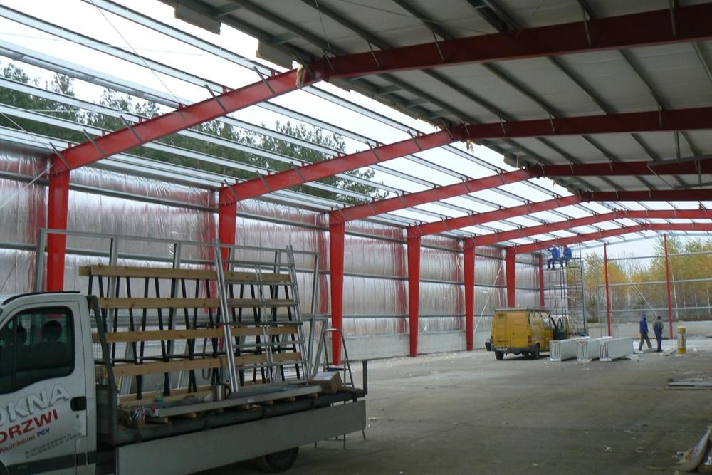 konstrukcja stalowa - hala produkcyjna, dla Janssen, Konin, wielkopolskie