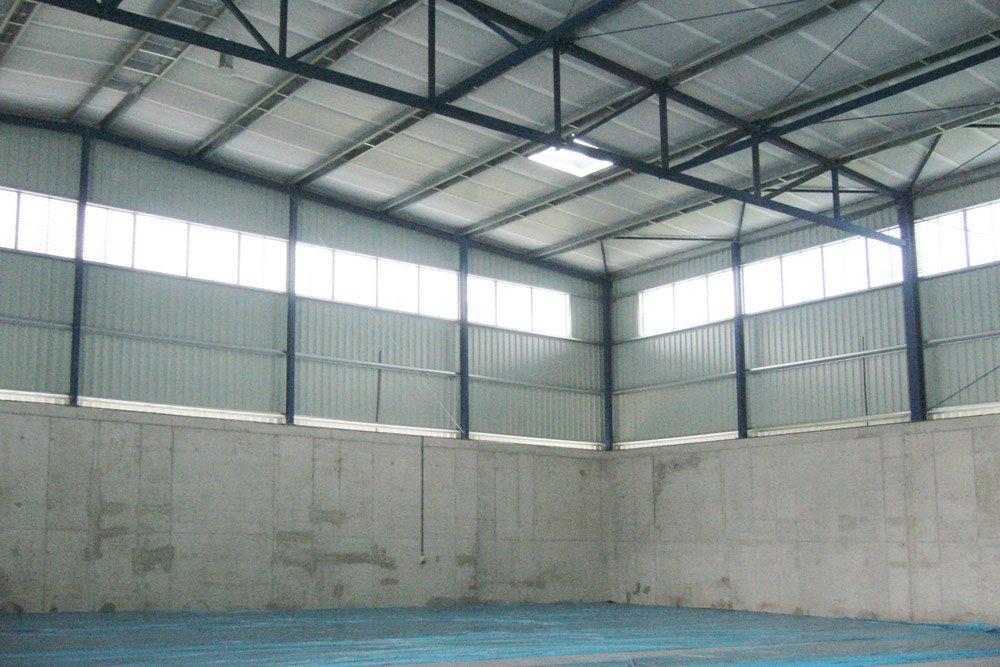 wnętrze hali - hala przemysłowa, dla Van Gansewinkel, Ruda Śląska, woj. śląskie